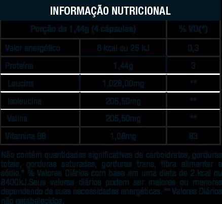 Informacao nutricional bcaa 511